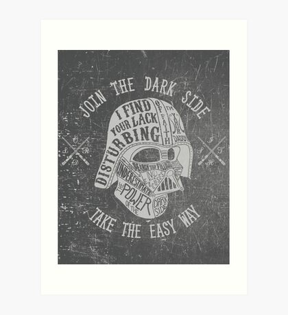 The easy way. (Alternate) Art Print