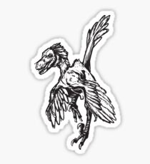 Dinobird - Dark Grey - Velociraptor Dinosaur Dromaeosaur Sticker