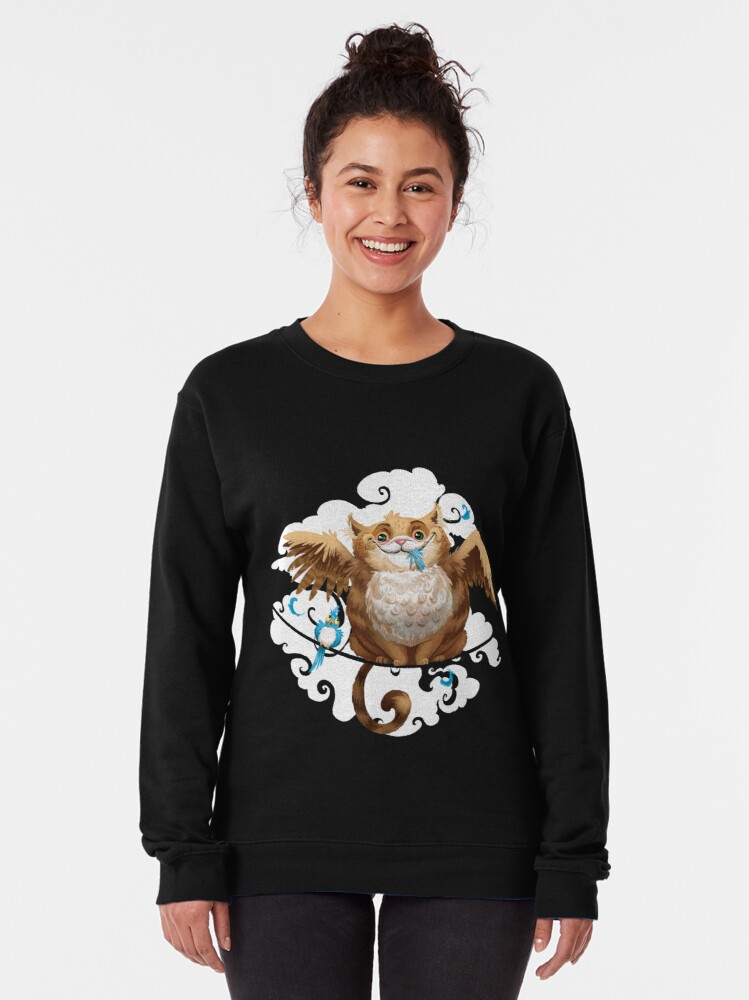 Alternate view of The Hungry Kitty Cat Pullover Sweatshirt