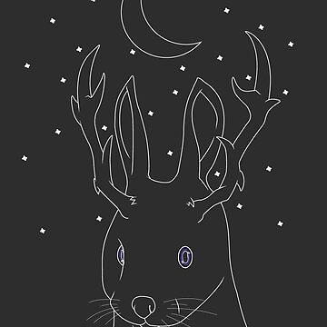 Galaxy Jackalope by PinataJohn