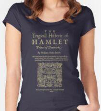 Shakespeare, Hamlet. Dark clothes version. Women's Fitted Scoop T-Shirt