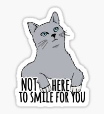 Not Here to Smile For You - Feminist Cat Sticker