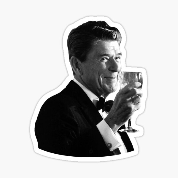 President Reagan Making A Toast Sticker
