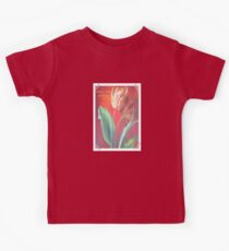 Mother's Day Greetings Red and Yellow Tulips Kids Tee