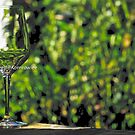 Stem glass, Still life by Kornrawiee