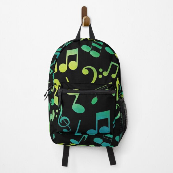 Yellow And Green Music Notes  Backpack