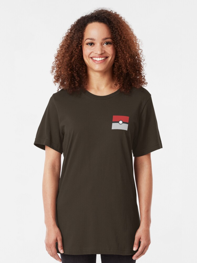 Vista alternativa de Camiseta ajustada Pokébola