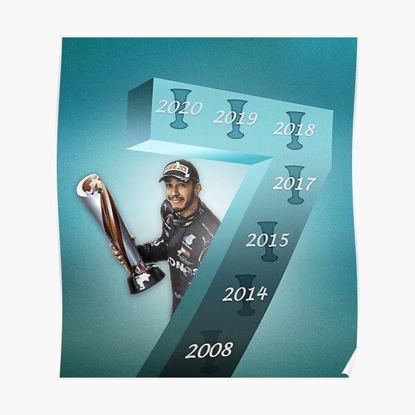 Lewis Hamilton 7-Time World Champion Poster