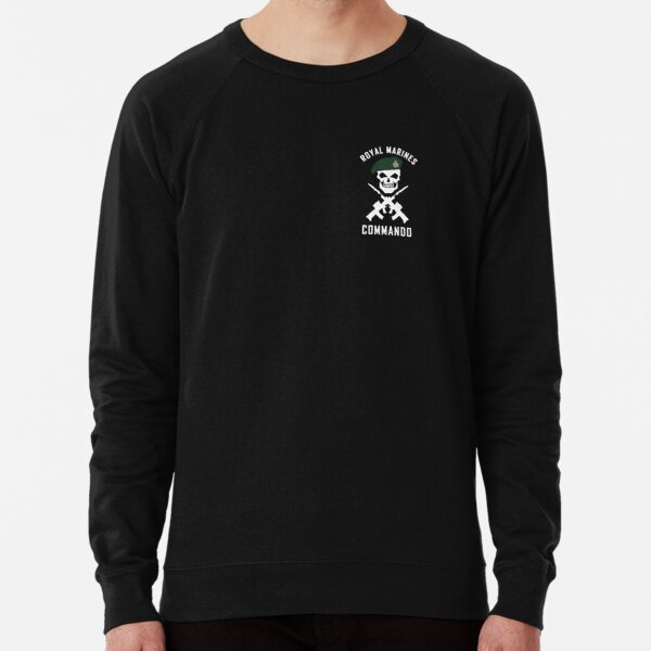 ROYAL MARINES COMMANDO BLACK HOODIE WITH DAGGER AND PATCH