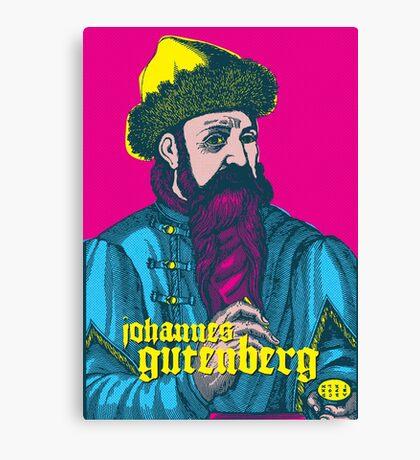Johannes Gutenberg Canvas Print
