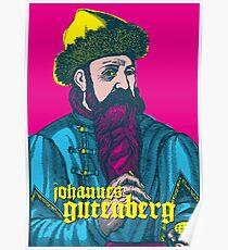 Johannes Gutenberg Poster