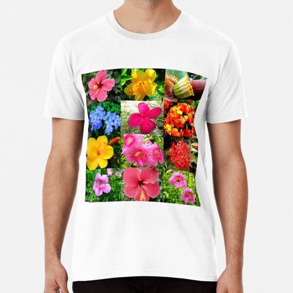 Flower Matrix 2 Hibiscus Premium T-Shirt