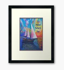 Happy Father's Day Bodrum Turquoise Coast Gulet Cruise Framed Print