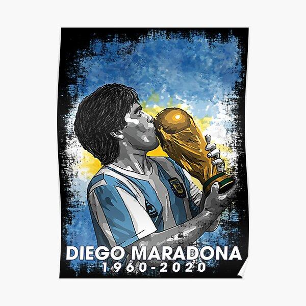 Rétro Vintage Diego Maradona 1960-2020 Poster