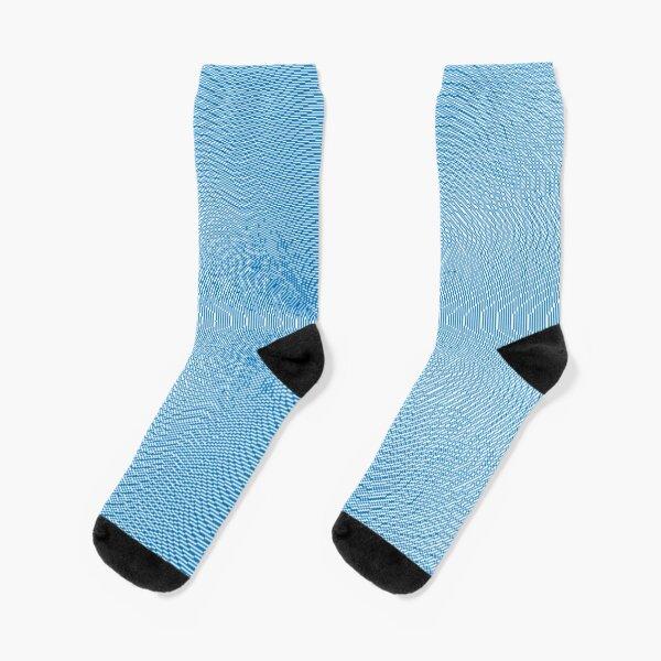 Blue Pattern Socks