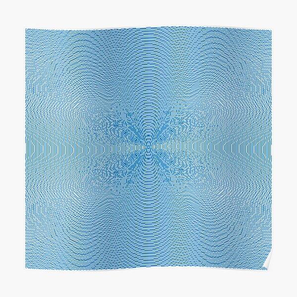 Blue Pattern Poster