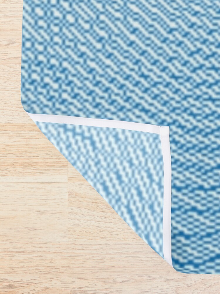 Alternate view of Blue Pattern Shower Curtain