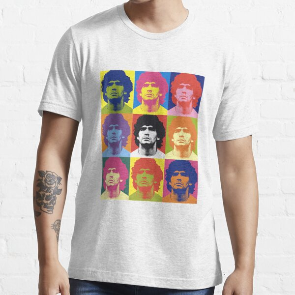 Warhol Maradona  Essential T-Shirt