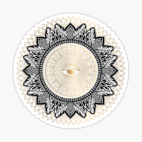 Ajina chakra yantra Sticker