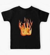 HELL FIRE, FIRE, BLAZE, BURN, IGNITE, FLAME, HEAT, LIGHT, WARMTH Kids Tee