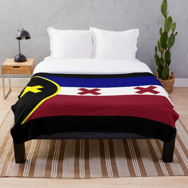 lmanberg flag Throw Blanket