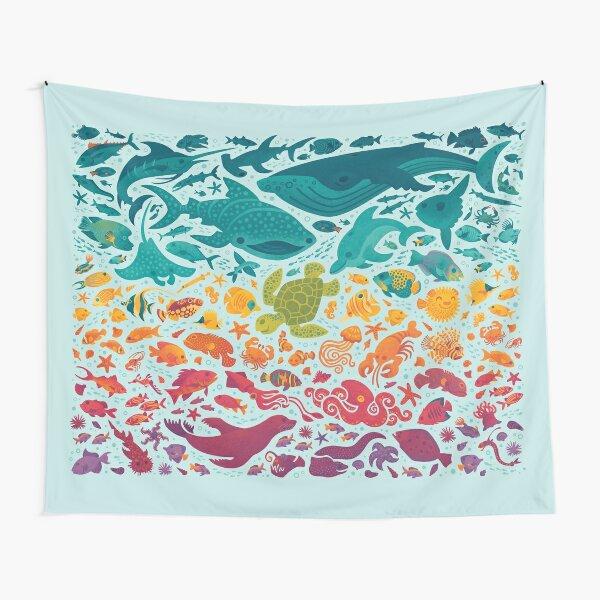 Aquatic Spectrum 2 : light blue Tapestry
