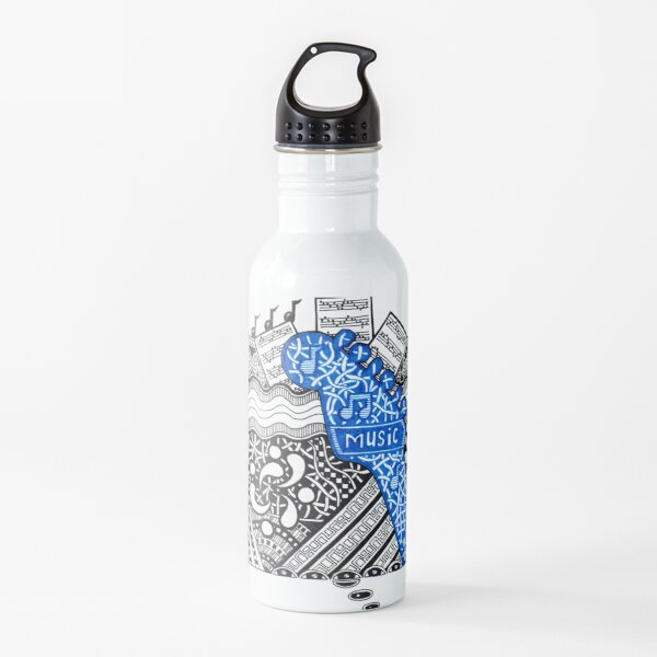Music - Doodle Drawing Water Bottle