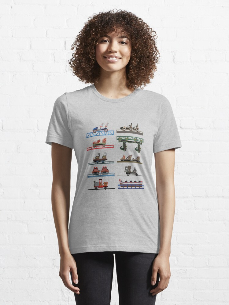 Alternate view of Europa Park Coaster Cars Design Essential T-Shirt