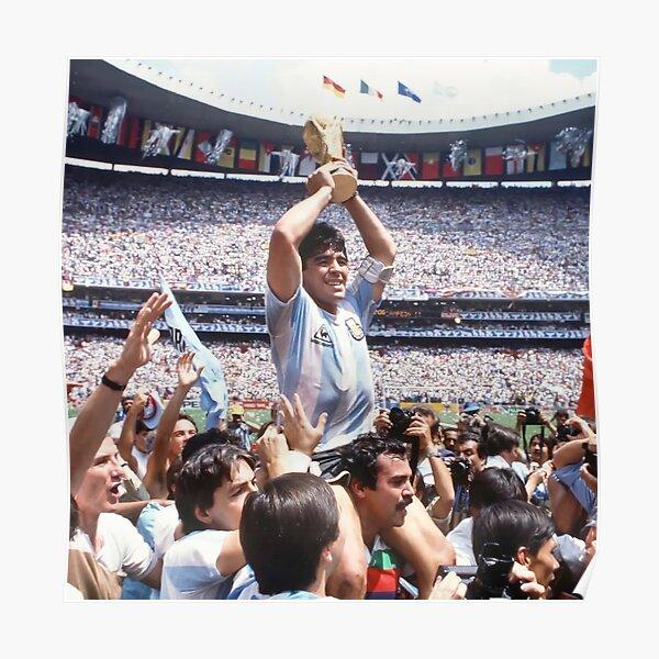 Coupe du monde de champion de Maradona Poster