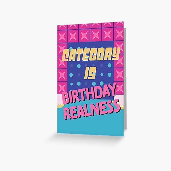 Geburtstag Realität Grußkarte