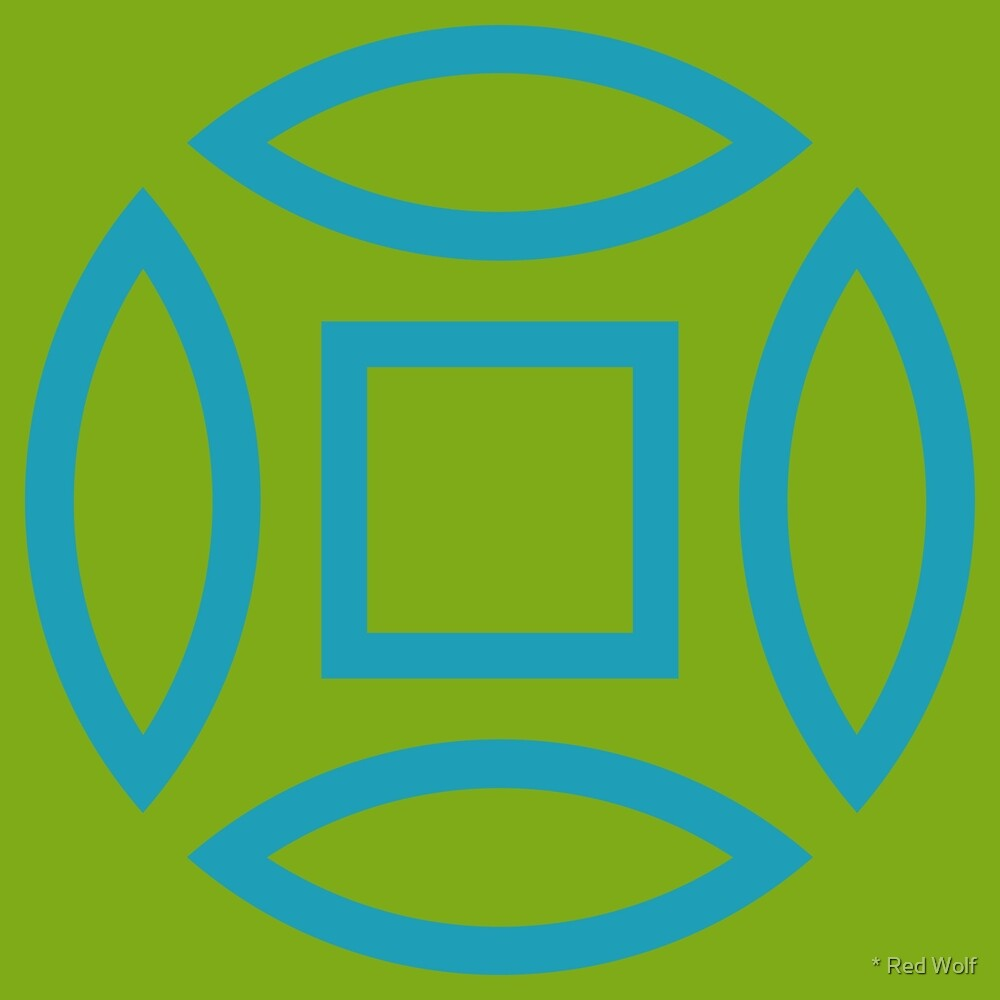 Geometric Pattern: Intersect Outline: Algal Bloom by * Red Wolf