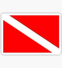 Diver Down Flag Sticker