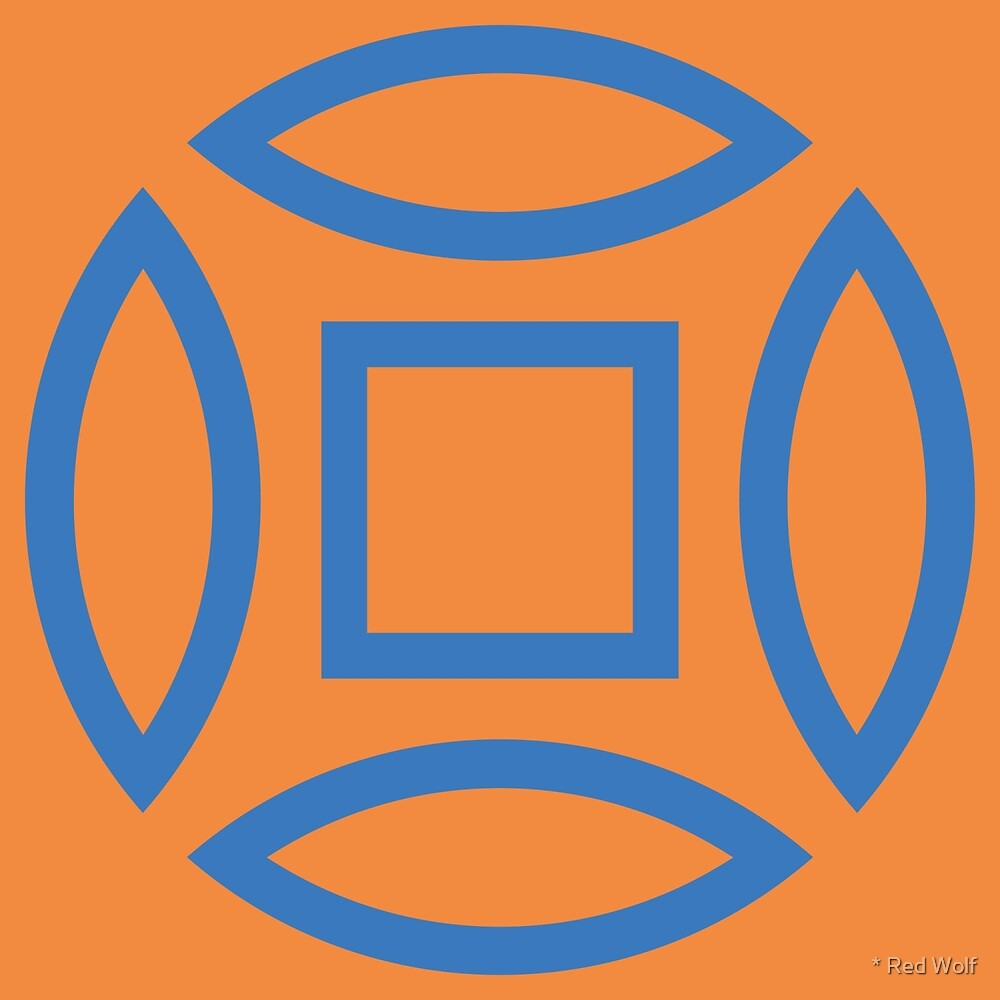 Geometric Pattern: Intersect Outline: Sunset Dramatica by * Red Wolf