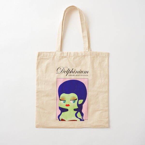 Adhara Space Station: Delphinium Cotton Tote Bag