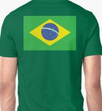BRAZIL, BRAZILIAN FLAG, FLAG OF BRAZIL, PURE & SIMPLE, Brazil, Soccer, Football, Olympics, on GREEN T-Shirt