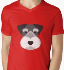 Miniature Schnauzer Men's V-Neck T-Shirt