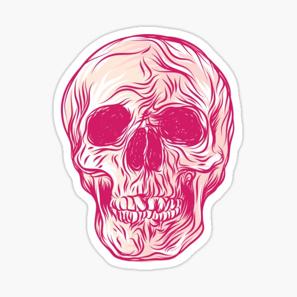Red Skull Sticker