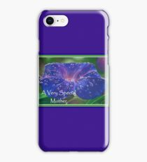 A Very Special Mother Deep Purple Morning Glory iPhone Case/Skin