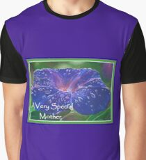 A Very Special Mother Deep Purple Morning Glory Graphic T-Shirt