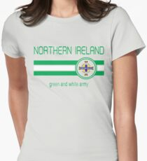 Euro 2016 Football - Northern Ireland (Away Blue) Womens Fitted T-Shirt