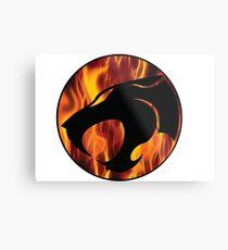 Fire cats Metal Print