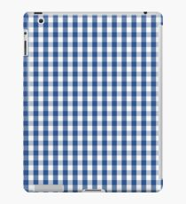 Delphinium Blue Mini Gingham Check Plaid iPad Case/Skin