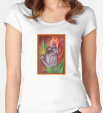 Thinking Of You - Two Tulips Women's Fitted Scoop T-Shirt