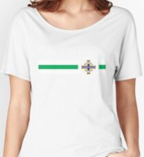 Euro 2016 Football - Northern Ireland (Home Green) Women's Relaxed Fit T-Shirt