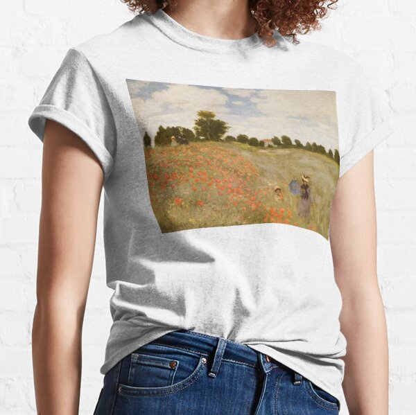 MONET, Claude, Wild Poppies, Near Argenteuil, Coquelicots, La promenade, 1873. Classic T-Shirt