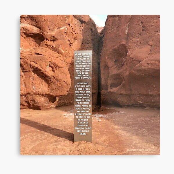 Utah Monolith Metal Print