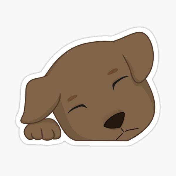 Sleeping Pup Sticker