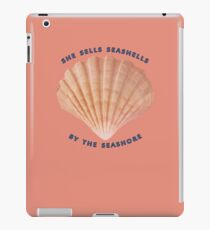 She Sells Seashells iPad Case/Skin
