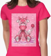 Love Sick Dragon Womens Fitted T-Shirt