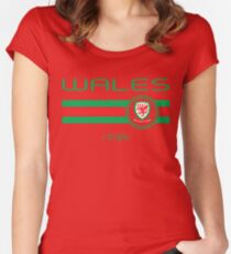 Euro 2016 Football - Wales (Home Red) Women's Fitted Scoop T-Shirt